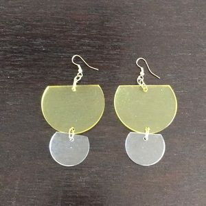 Ink+Alloy Lucite Chartreuse Earrings